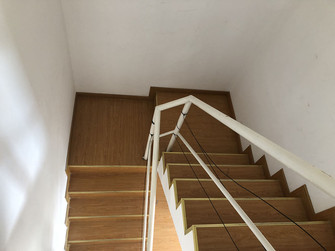 20万以上140平米别墅田园风格楼梯间欣赏图