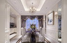 140平米复式美式风格餐厅飘窗图片大全