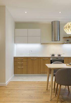 富裕型50平米一室一厅北欧风格厨房欣赏图
