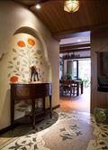 140平米三室两厅东南亚风格玄关装修案例