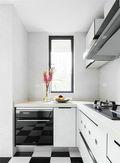 80平米三室两厅北欧风格厨房图片