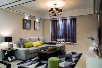 120平米三室五厅现代简约风格客厅图