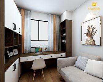 80平米三室两厅北欧风格书房图