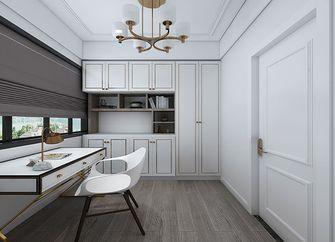 10-15万80平米三室一厅法式风格书房图