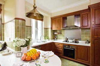 80平米三室三厅美式风格厨房装修图片大全