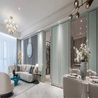 100平米三室一厅英伦风格客厅图