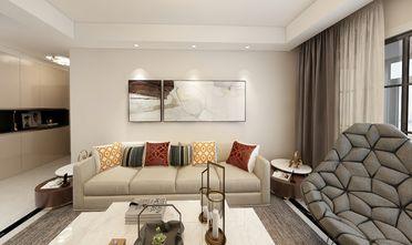 120平米三室两厅现代简约风格客厅装修图片大全