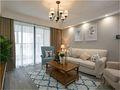 130平米三室两厅美式风格客厅背景墙装修效果图