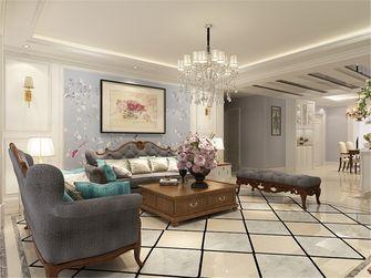 130平米三室两厅美式风格客厅背景墙欣赏图