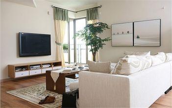 70平米一室两厅田园风格客厅图