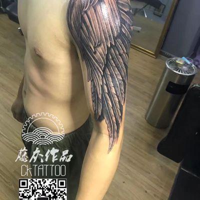 天使的翅膀纹身款式图