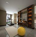 140平米三室两厅混搭风格健身室设计图