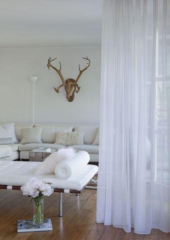 80平米一居室美式风格客厅设计图