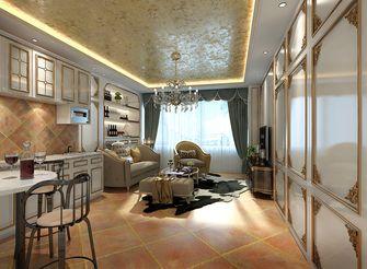 80平米一室一厅法式风格客厅图
