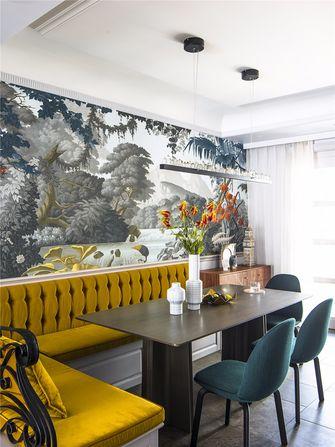 140平米复式英伦风格餐厅图片大全