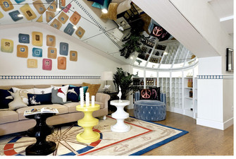 130平米三室两厅地中海风格阁楼装修案例