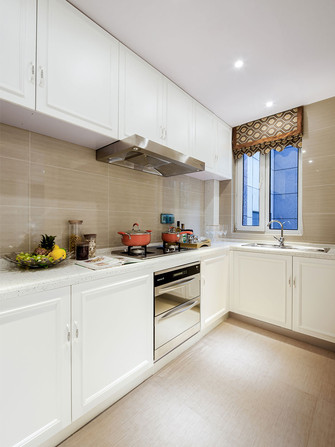 120平米三室一厅新古典风格厨房图片