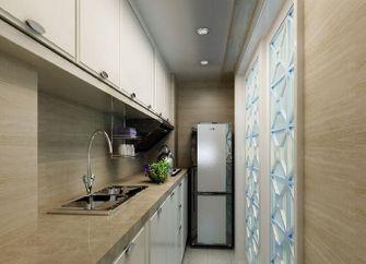 90平米三室一厅田园风格厨房图