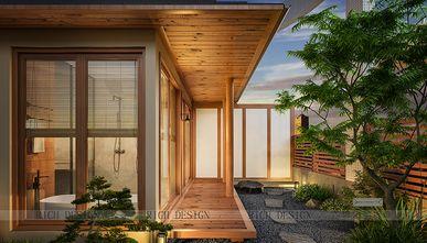 140平米三室一厅日式风格阳台效果图