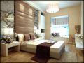 110平米三室两厅中式风格卧室背景墙欣赏图