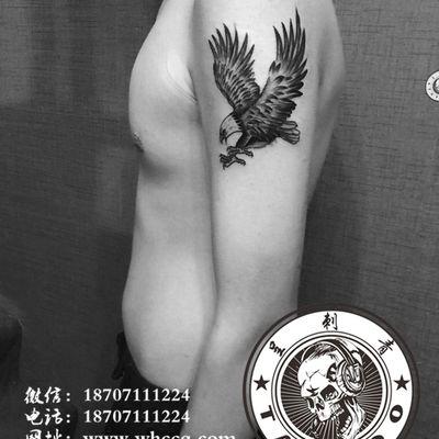 老鹰纹身图