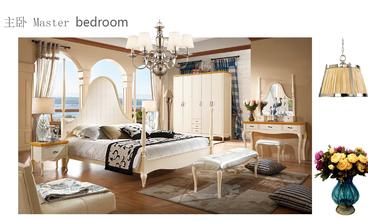 140平米四室一厅地中海风格卧室装修效果图