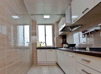 90平米三室一厅现代简约风格厨房橱柜图片大全