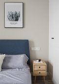 80平米三室五厅现代简约风格卧室装修图片大全