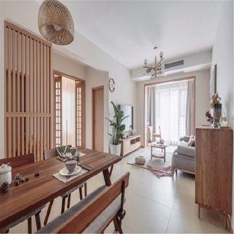 130平米四室一厅日式风格客厅设计图
