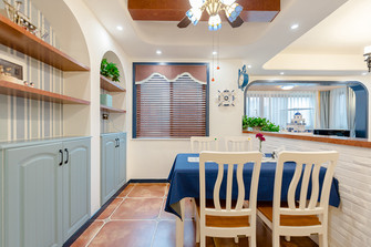 140平米四室两厅地中海风格餐厅欣赏图