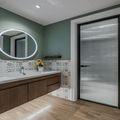 80平米一室一厅田园风格卫生间设计图