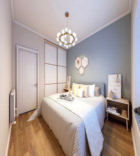 90平米三室一廳北歐風格臥室效果圖