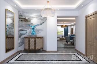 140平米三英伦风格客厅设计图