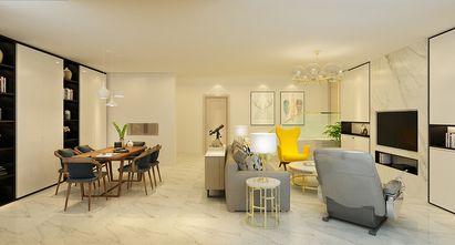 130平米三室一厅现代简约风格餐厅装修图片大全