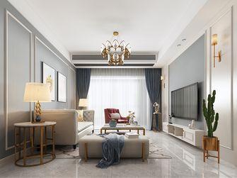 100平米三室三厅美式风格客厅装修图片大全