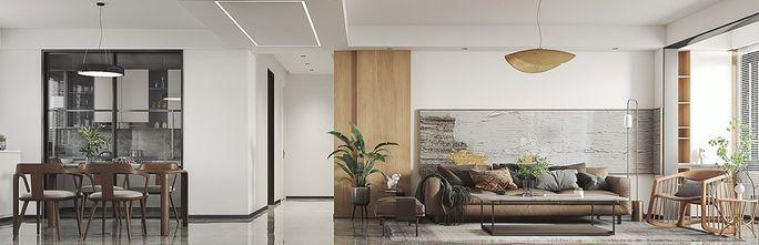 100平米三室一厅北欧风格玄关欣赏图