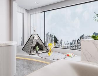 100平米三室两厅现代简约风格阳台欣赏图