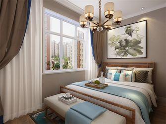80平米一室两厅中式风格卧室设计图
