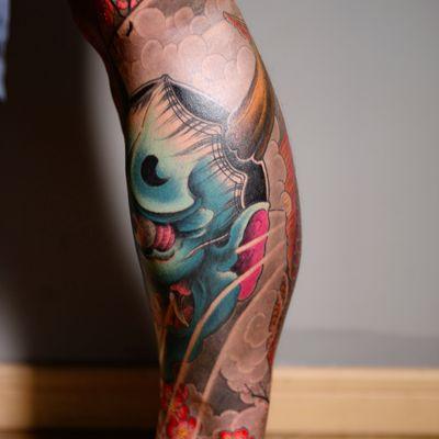 传统鲤鱼般若—老曹纹身图