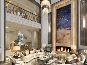 140平米別墅混搭風格客廳設計圖