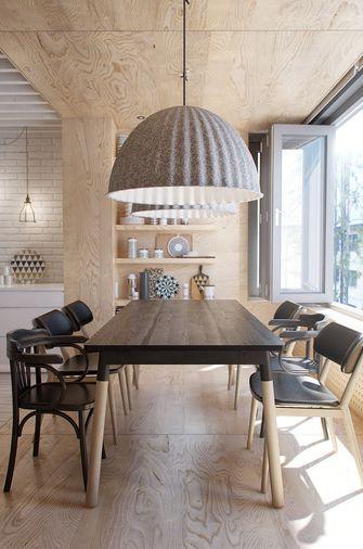 70平米一居室北欧风格餐厅图片