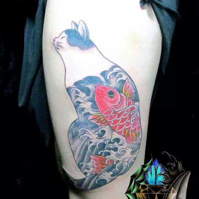 刺青猫纹身图