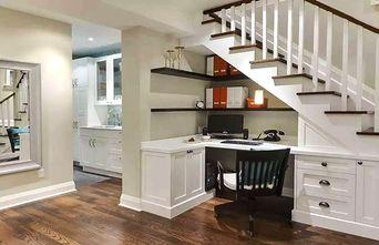 5-10万50平米四室一厅混搭风格楼梯装修图片大全