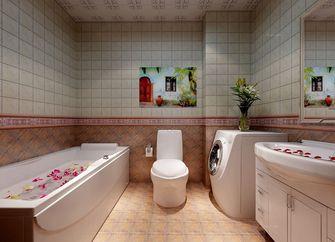 90平米三室一厅田园风格卫生间欣赏图