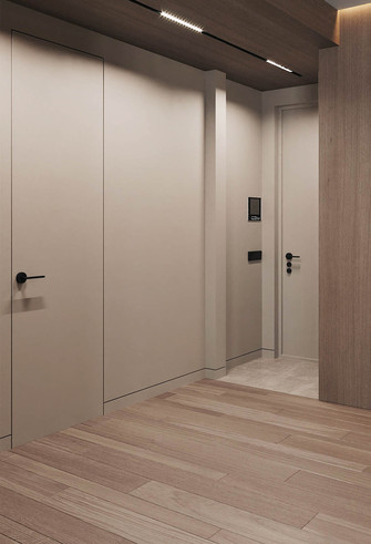 70平米公寓现代简约风格走廊图片