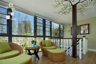 20万以上140平米复式田园风格阳光房装修效果图