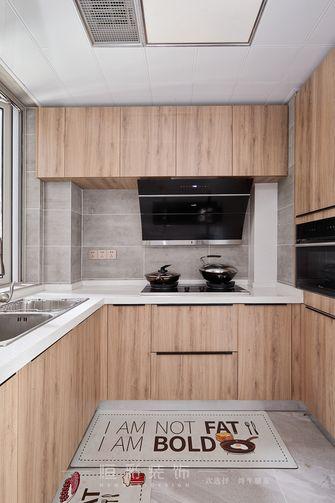 富裕型80平米三室两厅北欧风格厨房设计图
