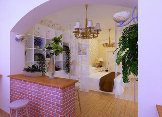 经济型130平米三室一厅田园风格衣帽间图片大全