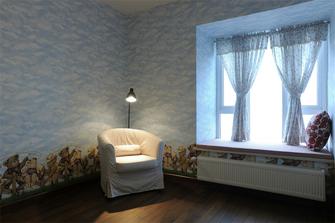 120平米三室一厅田园风格卧室图片