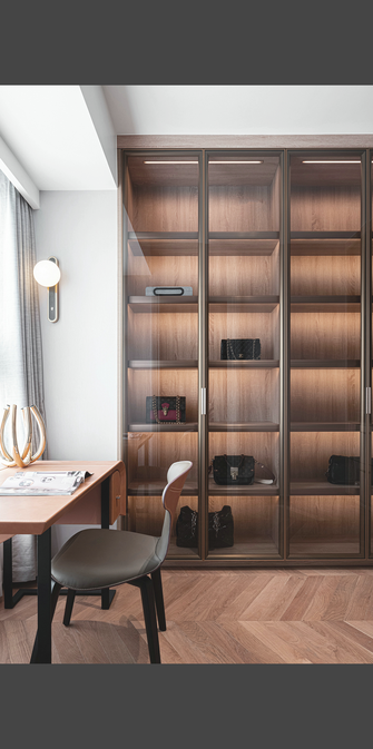 140平米三室一厅欧式风格书房装修案例